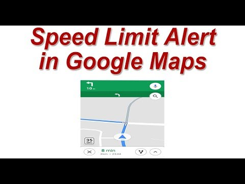 Maximum Speed Limit Alert in Google Maps ! New feature in Google Maps