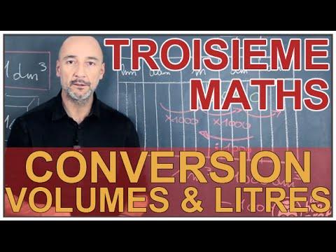 Conversion volumes & litres - Maths 3e - Les Bons Profs