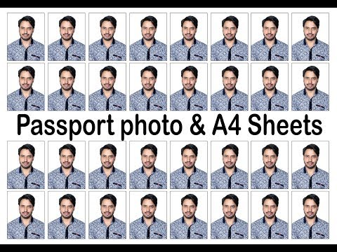 How To Make Passport Size Photo  & Paste in A4 sheet...Learn Esaly...( Hindi Voice)