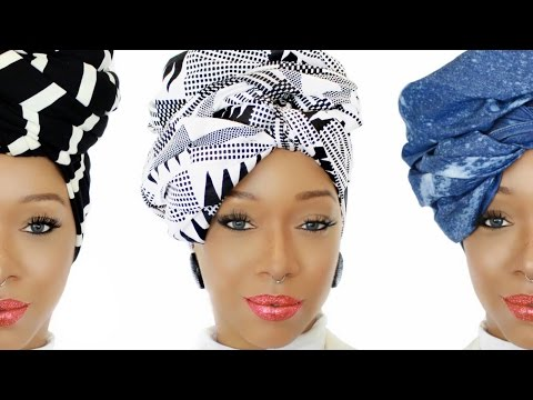 037Collection | 4 Easy Head Wrap Styles | Ankara, Denim & Knit Head Wraps