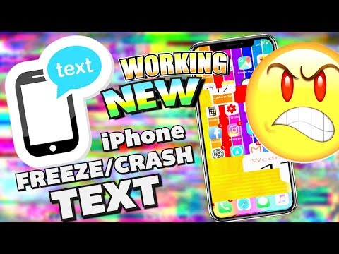 *NEW WORKING* How To Freeze/Crash an iPhone WITH TEXT iOS 11 - 11.2.2 + FIX
