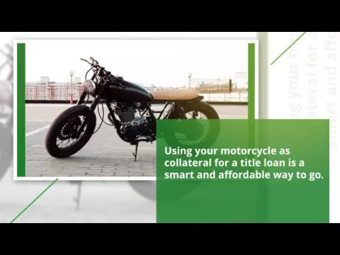 Getting a Title Loan on Your Motorcycle at Utah Money Center