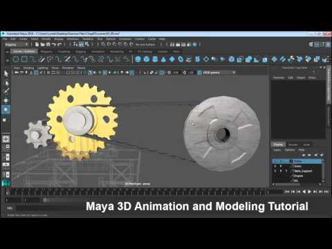 Maya 3D Animation and Modeling Part016 Drive the pulleys