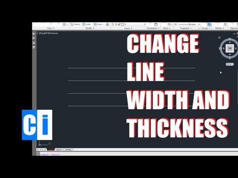 AutoCAD Tutorial: How to Change Line Thickness (Width)