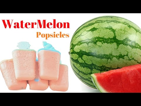 how to make watermelon Popsicle or watermelon kulfi