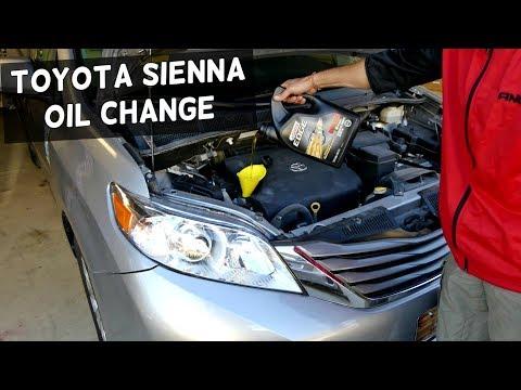 Toyota Sienna Oil Change 2011 2012 2013 2014 2015 2016