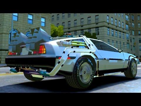 #287 DeLorean DMC 12 Time Machine | NEW ! CAR ! GTA IV ! [60 FPS]