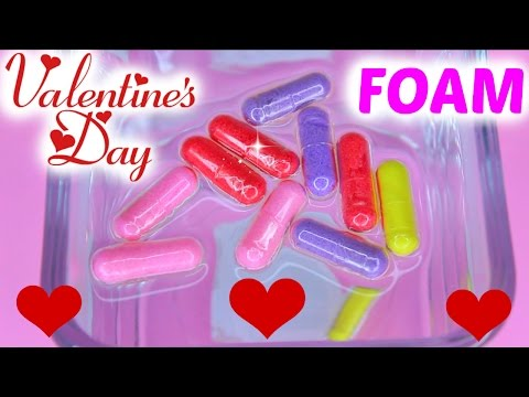V-DAY Foam Growing Capsules Surprise Heart Shapes Grow In Water