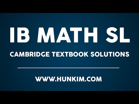 IB Math SL Cambridge Textbook Worked Example 9.12