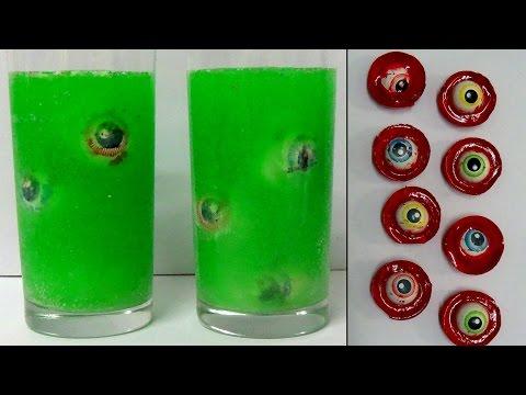 how to make gummy eyeballs and eyeball ice blocks