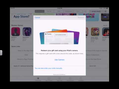 How to Redeem an Apple Gift Card using an iPad