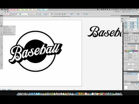 Creating a Simple Baseball Logo In Illustrator - Part 1
