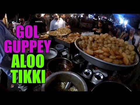 Gol Guppey and Aloo Tikki | Indian Street Food | Lajpat Nagar Market Delhi