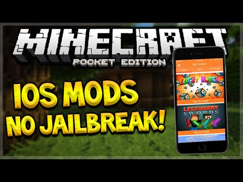 MCPE MODS iOS NO JAILBREAK!! Minecraft Pocket Edition Working iOS Mods NO PC (Pocket Edition)