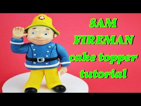 SAM THE FIREMAN CAKE TOPPER FONDANT TUTORIAL - VIGILE DEL FUOCO PASTA DI ZUCCHERO TORTA