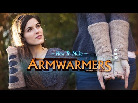How to Make Armwarmers — a DIY Winter Fashion Accessory! | Damsels in DIY Tutorials