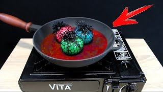EXPERIMENT What Happen if You Drop toys Slime Antistress into HOT PAN