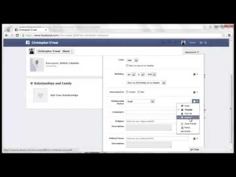 How To Change Relationship Status On Facebook  (2013)