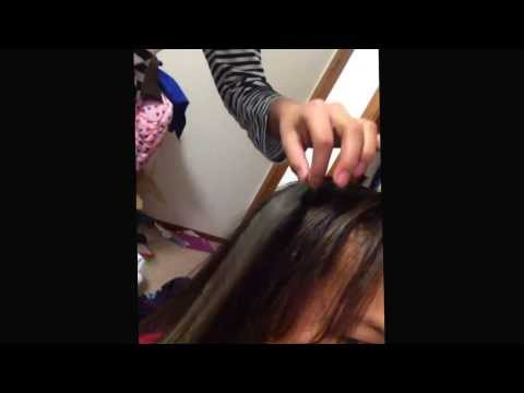 Dye hair with crayons stix