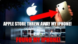Found MY iPhone 7 Apple Store Dumpster Diving After Trading It In!