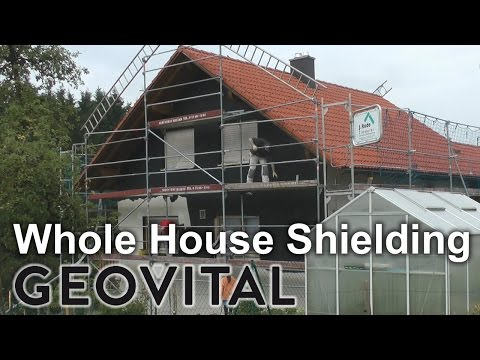 Whole house EMF shielding with T98 paint and GPA mesh under tiled roof