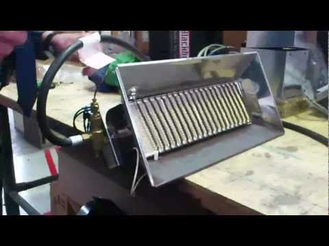 cleaning portable infrared gas heater