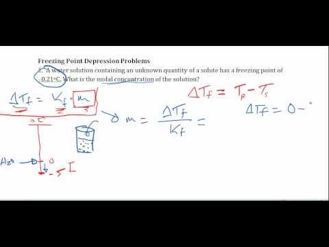 calculating freezing point depression