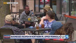 Businesses, restaurants reopen in northern Michigan
