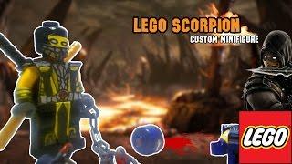 Lego Scoprion Custom Minifigure [Mortal Kombat 9] [PlayHunterChan]