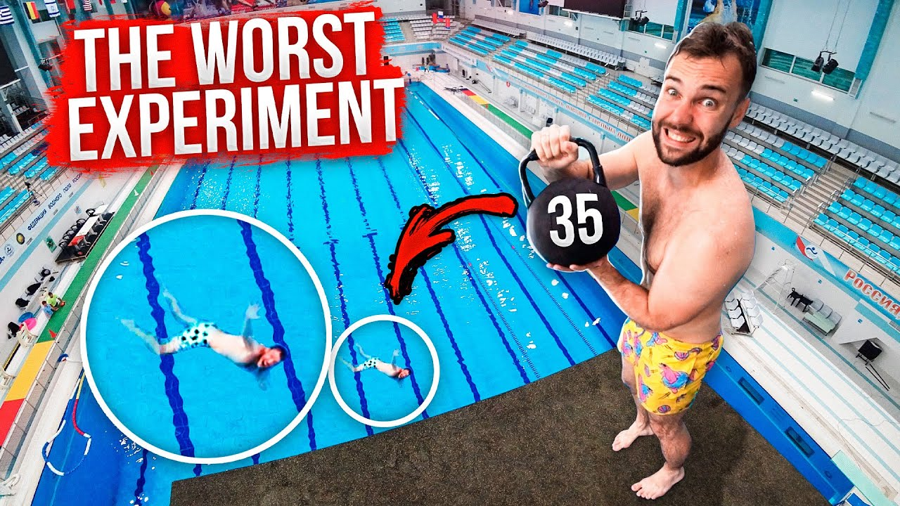 Kettlebell CRUSH TEST from the HIGHEST platform | TOP-4 facts you should know about water safety