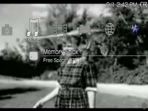 How to make dynamic/moving psp backround themes