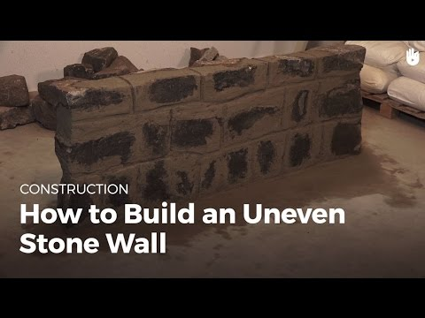 How to Build an Uneven Stone Wall | Masonry