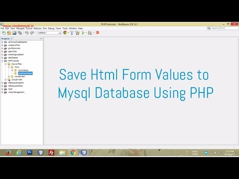 Save Form Values to MySQL Database Using PHP