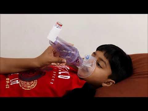 Cipla Huf Puf Kit Zerostat VT Spacer with Baby Mask - Asthma Inhalers Spacer Kit for Kids
