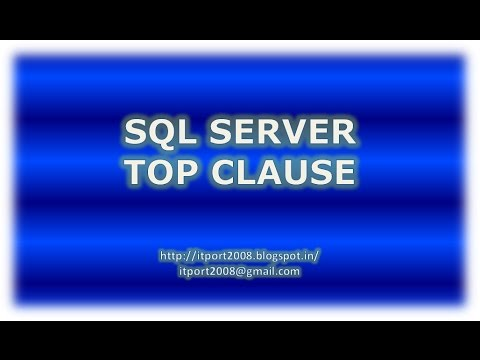 Top Clause with Percent in SQL Server