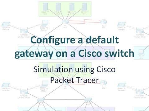 Configure a default gateway on a Cisco switch