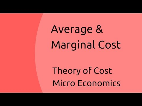 Average & Marginal Cost | Theory of Cost | CA CPT | CS & CMA Foundation | Class 11 | Class 12