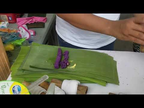 Preparing Puto Bumbong