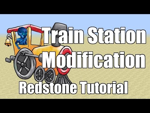 Minecraft Xbox 360 / Xbox One / PS3 / PS4 - Redstone Tutorial - Train Station Modification