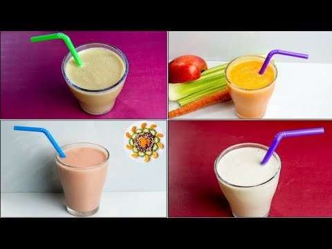 Breakfast Smoothie For Weight Loss | Breakfast Smoothie 4 Ways
