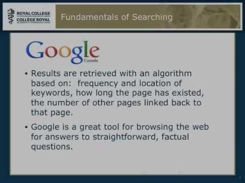 Searching for Evidence 101 Part 1- Google and Wikipedia