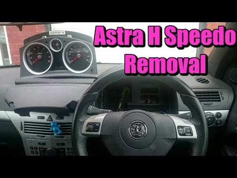 Vauxhall Astra H Speedometer Removal (Opel)