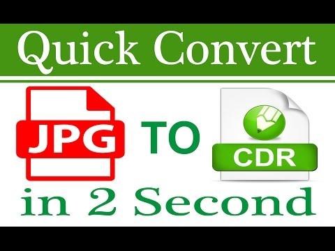 Quick convert jpg to cdr in Coreldraw x7