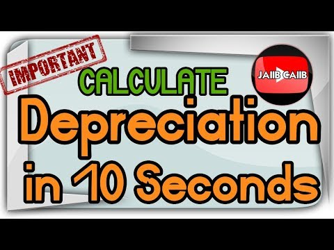 Calculate Depreciation in 10 seconds by written Down value (WDV) method JAIIB Accounts