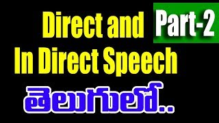 Direct and Indirect Reported Speech through Telugu