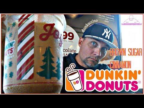 DUNKIN' DONUTS® BROWN SUGAR CINNAMON ICED COFFEE REVIEW