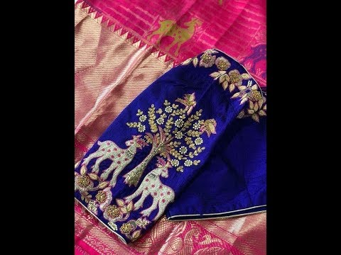 Designer Blouses For Sarees - Reference Purpose Only Not For Sale