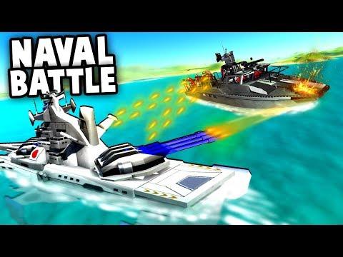 NEW Battleships vs Attack Boat!  (Ravenfield Gameplay - Best Mods)