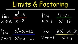 Evaluating Limits By Factoring