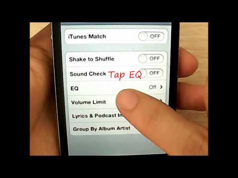 How to set sound equalizer on iPhone and iPad